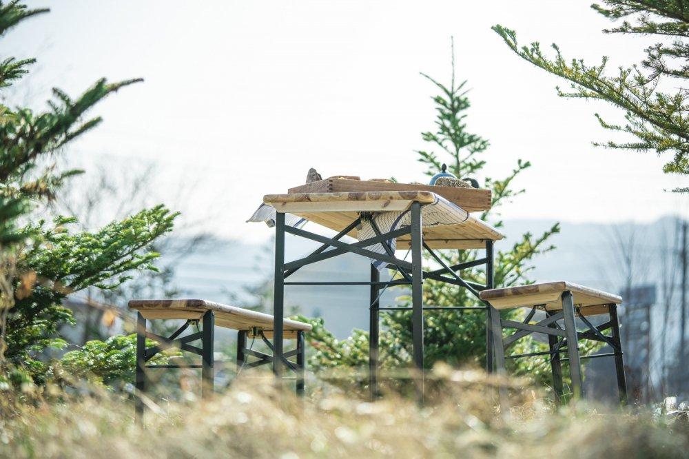【期間限定セール 20%OFF】コペンハーゲンテーブル&ベンチセット
