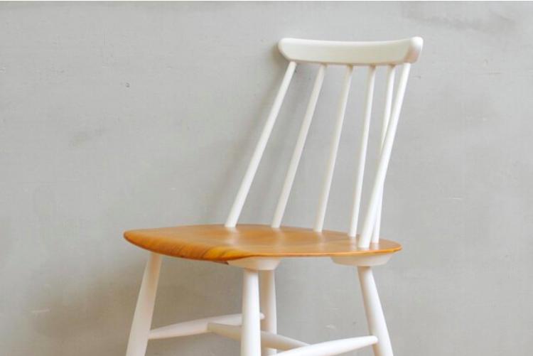 【期間限定セール・送料無料】haluta|Chair Teak & 6Spoke(White)