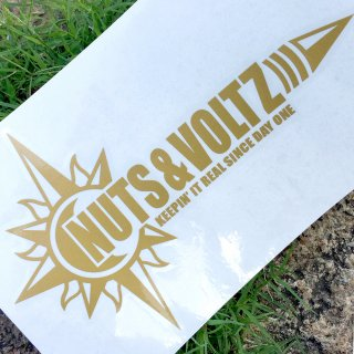 NUTS & VOLTZ LOGO CUTTING STICKER (Gold)