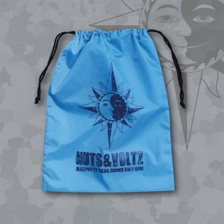 NUTS & VOLTZ LOGO KINCHAKU BAG (Sky Blue)