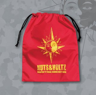 NUTS & VOLTZ LOGO KINCHAKU BAG (Red)