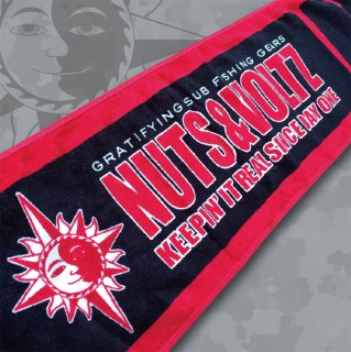 NUTS & VOLTZ LOGO TOWEL (Red & Black)