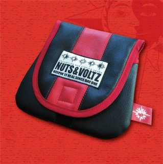 NUTS & VOLTZ REEL CASE (Leather Red×Black)