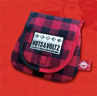 NUTS & VOLTZ REEL CASE (Red×Black Check Cloth )