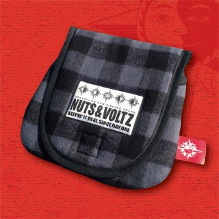 NUTS & VOLTZ REEL CASE (Gray×Black Check Cloth )