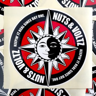 NUTS & VOLTZ LOGO CIRCLE STICKER (Red Core)