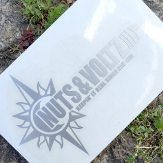 NUTS & VOLTZ LOGO CUTTING STICKER (Silver)