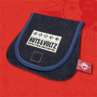 NUTS & VOLTZ REEL CASE (Denim Cloth Blue Line )