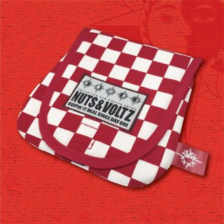 NUTS & VOLTZ REEL CASE (Red Checkered Flag Cloth )