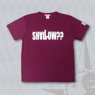 STOIST SHALLOW DRY Cotton Touch T-Shirts (Burgundy)
