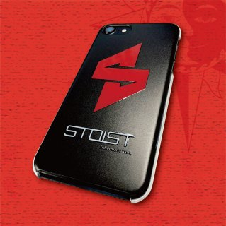 STOIST S-SHARP LOGO i Phone Case (Black & Red) (7/8/8Plus/X)