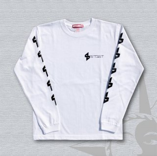 STOIST S-SHARP LOGO Long Sleeves T-Shirts (White)