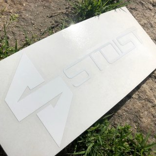 STOIST S-SHARP LOGO CUTTING STICKER (White)
