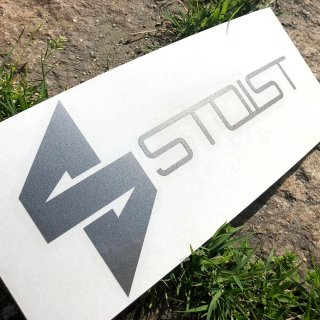 STOIST S-SHARP LOGO CUTTING STICKER (Silver)