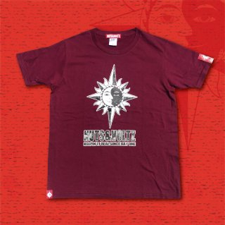 NUTS & VOLTZ STANDARD LOGO T-Shirts (Burgundy)