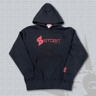 STOIST S-SHARP LOGO PARKA (Black×RedPrint)