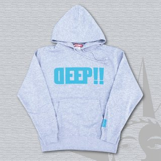 STOIST DEEP LOGO PARKA (Mix Gray×LightBlue Print)