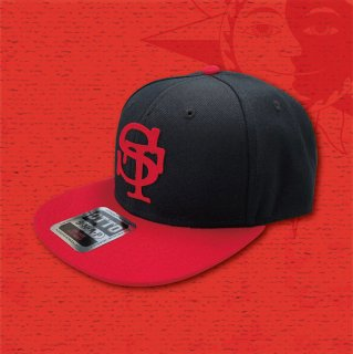 STOIST SNAPBACK CAP (Black & Red)