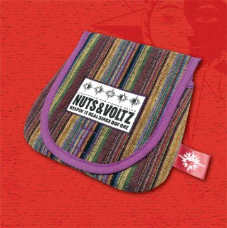 NUTS & VOLTZ REEL CASE (Ethnic Pattern Cloth / Purple Edge Tape)