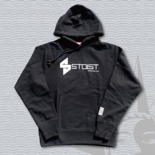 STOIST S-SHARP LOGO HEAVY WEIGHT PARKA (Black×WhitePrint)