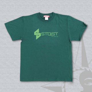 STOIST S-SHARP LOGO T-Shirts (Green & Light Green Print)