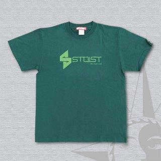 STOIST S-SHARP LOGO T-Shirts (Green & Light Green Print)