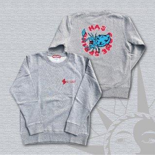 MONSTER SQUID Crew Neck Sweatshirt (Gray)