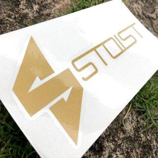 STOIST S-SHARP LOGO CUTTING STICKER (Gold)