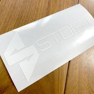 STOIST S-SHARP LOGO CUTTING STICKER (Carbon White)