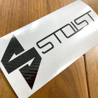 STOIST S-SHARP LOGO CUTTING STICKER (Carbon Black)