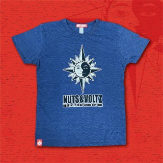 NUTS & VOLTZ FLOCKY LOGO T-Shirts (Heather Navy)