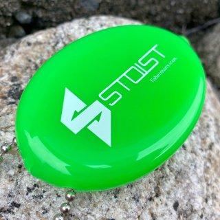 STOIST MARUCHOBI COIN CASE (Neon Green × White Logo)