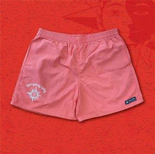 NUTS & VOLTZ NYLON SHORT PANTS (Coral Pink)