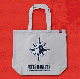 NUTS & VOLTZ LOGO TOTE BAG (Natural)
