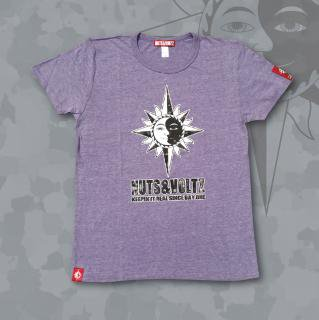 COLORFUL NUTS & VOLTZ LOGO-T (Purple)