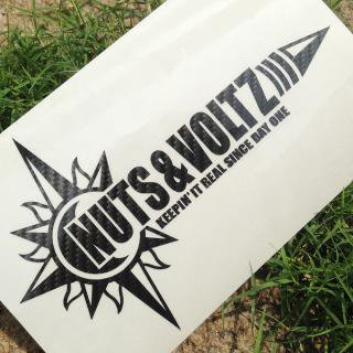 NUTS & VOLTZ LOGO CUTTING STICKER (Carbon Black)