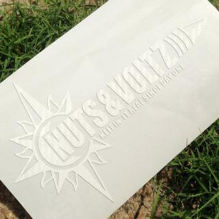 NUTS & VOLTZ LOGO CUTTING STICKER (Carbon White)
