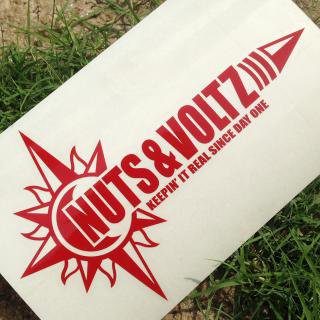 NUTS & VOLTZ LOGO CUTTING STICKER (Red)