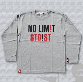 NO LIMIT Long Sleeves T-Shirts (Light Grey)