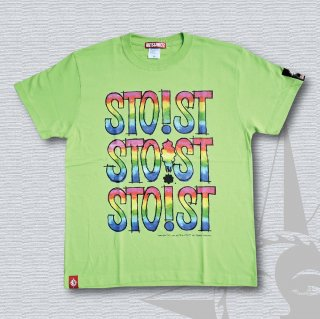 STOIST TRIPLE LOGO T-Shirts (Lime Green)