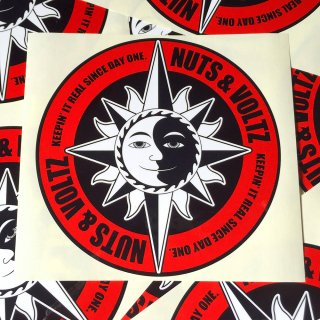 NUTS & VOLTZ LOGO CIRCLE STICKER (Black Core)