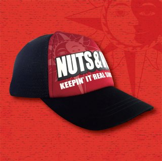 NUTS & VOLTZ LOGO MESH CAP (Red & Black)