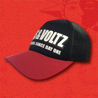 NUTS & VOLTZ LOGO MESH CAP (Black & Red)