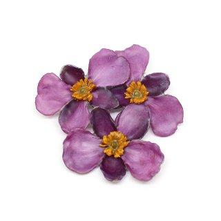 シュウメイギク ブローチ(ピンク花3)