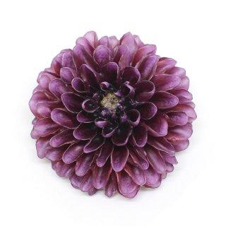 ダリア ブローチ(濃紫)