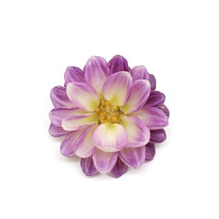 ダリア ブローチ(白紫)