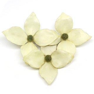ヤマボウシ ブローチ(花3)