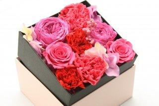 フラワーボックスギフト 敬老の日・母の日・誕生日ギフト・結婚祝い・結婚記念日・新築お祝い・開店お祝い