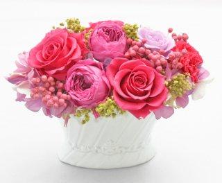 プリザーブドフラワーアレンジメント 敬老の日・母の日・誕生日ギフト・結婚祝い・結婚記念日・新築お祝い・開店お祝い /【リトファニー】