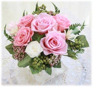 プリザーブドフラワー アレンジメント Feminine(フェミニン)/Pink
